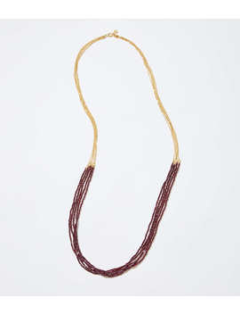 Metallic Multistrand Necklace by Loft