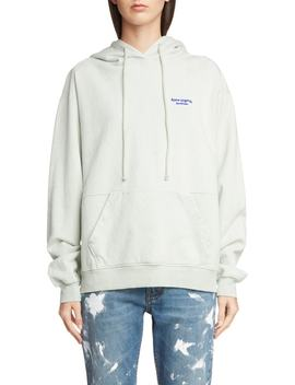 embroidered-logo-hoodie by acne-studios