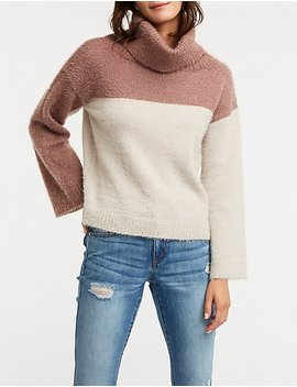 Color Block Cowl Neck Sweater by Charlotte Russe