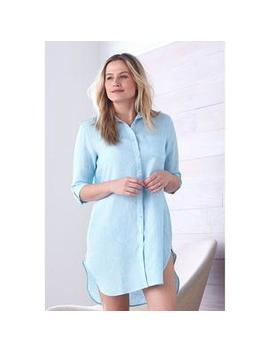 Chambray Linen Sleepwear – Boyfriend Nightshirt by The Company Store