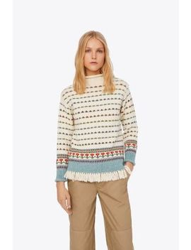 Floral Jacquard Sweater by Tory Burch