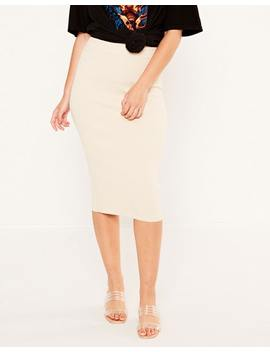 Knit Midi Skirt by Glassons