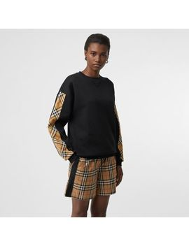 Vintage Check Detail Jersey Sweatshirt by Burberry