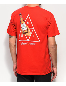 Huf X Budweiser Cheers Red T Shirt by Huf