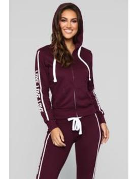Repeat My Love Zip Up Hoodie   Plum by Fashion Nova