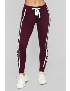 Repeat My Love Jogger   Plum by Fashion Nova