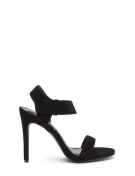 Hot Date Strappy Faux Nubuck Heels by Go Jane