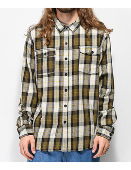 Salty Crew Spinnaker Olive, White & Black Flannel Shirt by Salty Crew