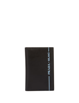 Men's Calf Leather City Sport Card Case by Prada