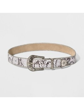 Women's Snake Buckle Loop Tip Set Belt   Wild Fable™ Silver by Wild Fable