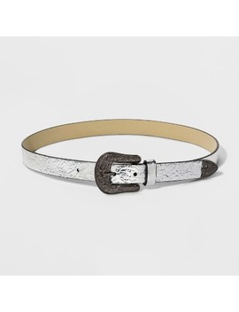 Women's Metallic Western Buckle Belt   Wild Fable™ by Wild Fable