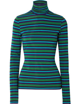 Pswl Striped Stretch Cotton Jersey Turtleneck Sweater by Proenza Schouler