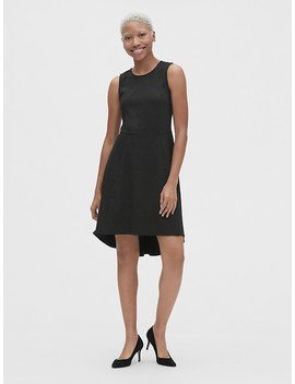 Fit And Flare Sleeveless Hi Lo Dress by Gap