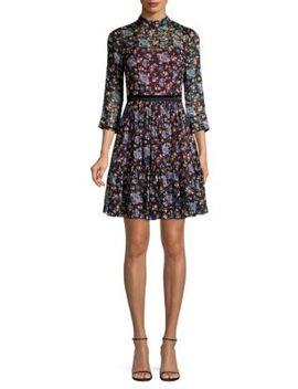 Solstice Floral Fit And Flare Dress by Rebecca Taylor