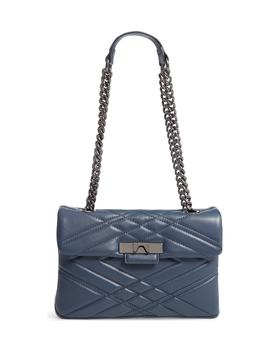 Mayfair Quilted Leather Shoulder Bag by Kurt Geiger London