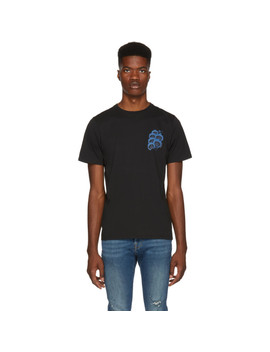 Black 'blue Orchid' T Shirt by Saturdays Nyc