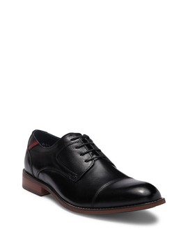 Exec Leather Cap Toe Derby by Steve Madden