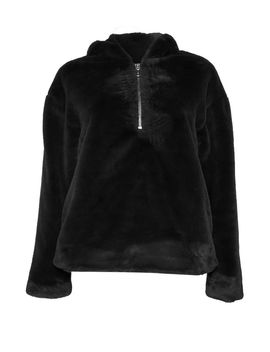 **Faux Fur Pull Over Hoodie By Glamorous by Topshop