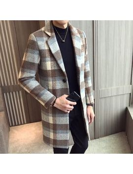 Besto   Plaid Single Buttoned Coat by Besto
