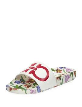 Groove Flw2 Pool Slide Sandal In Begonia by Neiman Marcus