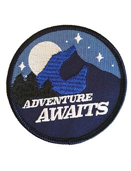 Adventure Patch   Glow In The Dark Iron On Patches For Jackets, Backpacks, And Clothing by Hatjoy