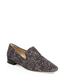 Jaida Glitter Embossed Leather Oxfords by Jimmy Choo