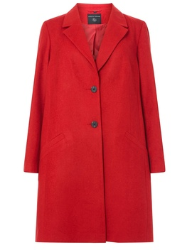 **Dp Curve Red Duster Coat by Dorothy Perkins