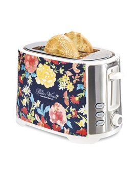 Pioneer Woman Extra Wide Slot 2 Slice Toaster Fiona Floral | Model# 22638 By Hamilton Beach by The Pioneer Woman