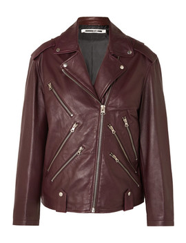 Oversized Leather Biker Jacket by Mc Q Alexander Mc Queen