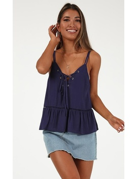 In The Loop Top In Navy by Showpo Fashion