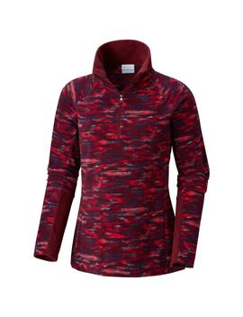 Women's Glacial™ Iv Print Half Zip Pullover   Plus Size by Columbia Sportswear