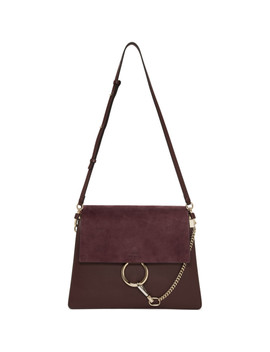 Burgundy Faye Medium Satchel by ChloÉ