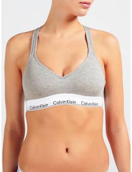 Calvin Klein Underwear Modern Cotton Cross Strap Bralette, Grey Heather by Calvin Klein