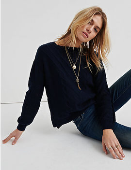 Cable Knit Sweater by Lucky Brand