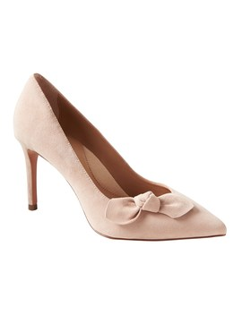 Madison 12 Hour Suede Bow Pump by Banana Repbulic