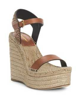 Espadrille Platform Wedge Sandals by Saint Laurent