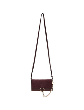 Burgundy Faye Wallet Bag by ChloÉ