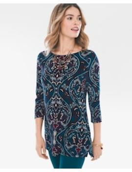 Teal Paisley Tunic by Travelers Classic