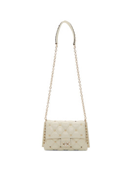 Off White Valentino Garavani Medium Candystud Clap Bag by Valentino