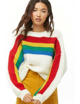Rainbow Knit Sweater by Forever 21