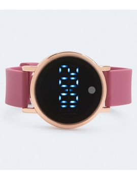 Rubber Round Led Digital Watch*** by Aeropostale