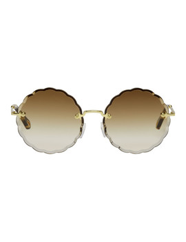 Gold Rosie Sunglasses by ChloÉ