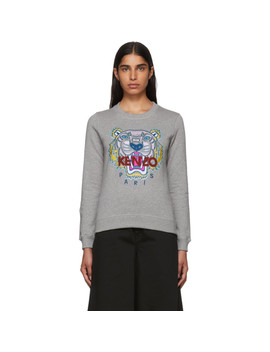 Grey Classic Tiger Sweatshirt by Kenzo
