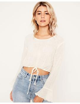 Tie Waist Crop Blouse by Glassons
