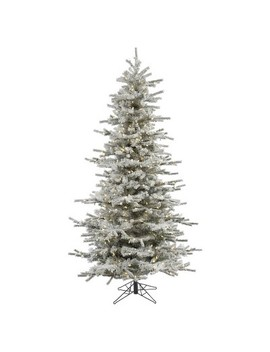 4.5 Ft Flocked Slim Sierra Slim Artificial Christmas Tree With Warm White Led Lights by Vickerman