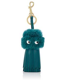 Eyes Shearling & Leather Bag Charm by Anya Hindmarch