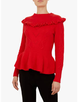 Ted Baker Elsahi Sweater, Mid Red by Ted Baker