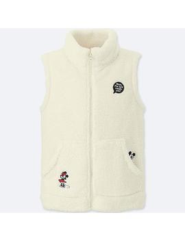 Kids Disney Fluffy Yarn Fleece Vest by Uniqlo