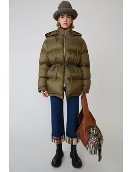 Down Filled Coat  Olive Green by Acne Studios