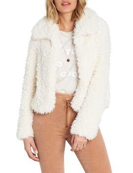 Fur Keeps Faux Fur Crop Jacket by Billabong